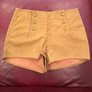American Vintage leather shorts